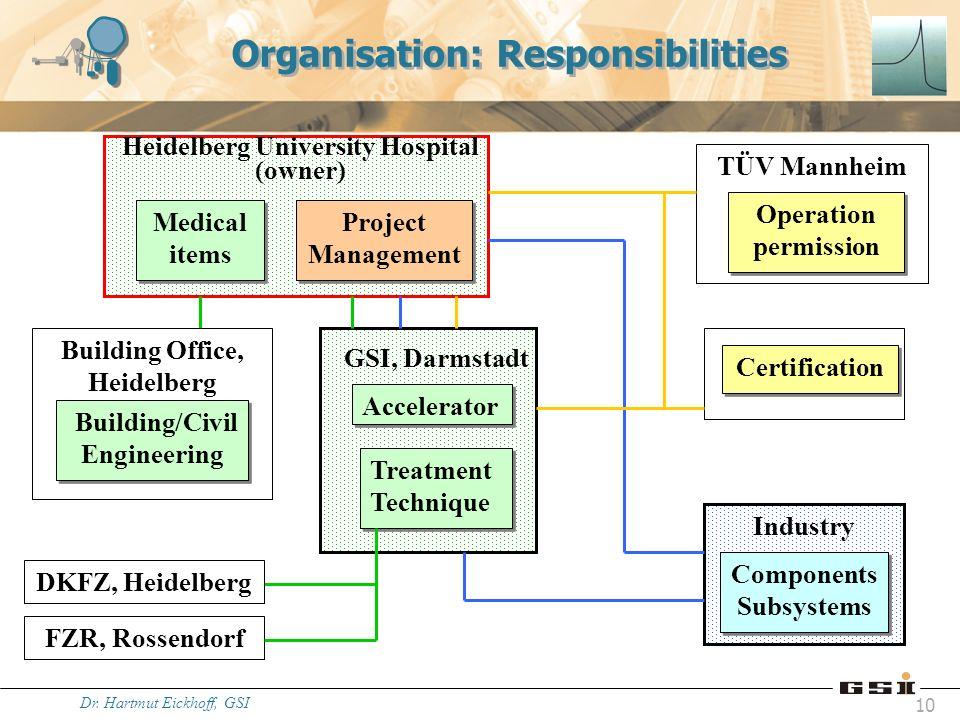 Organisation: Responsibilities