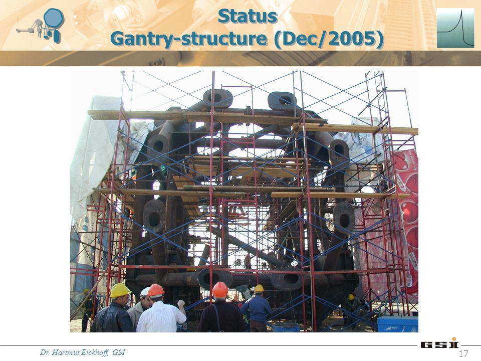 Status Gantry-structure (Dec/2005)