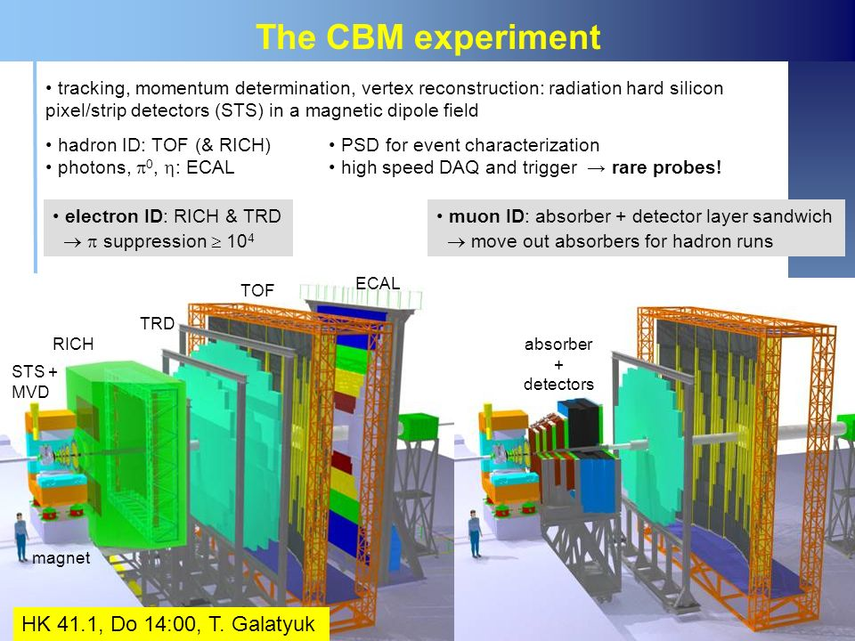 The CBM experiment HK 41.1, Do 14:00, T. Galatyuk
