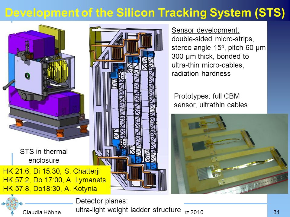 Development of the Silicon Tracking System (STS)