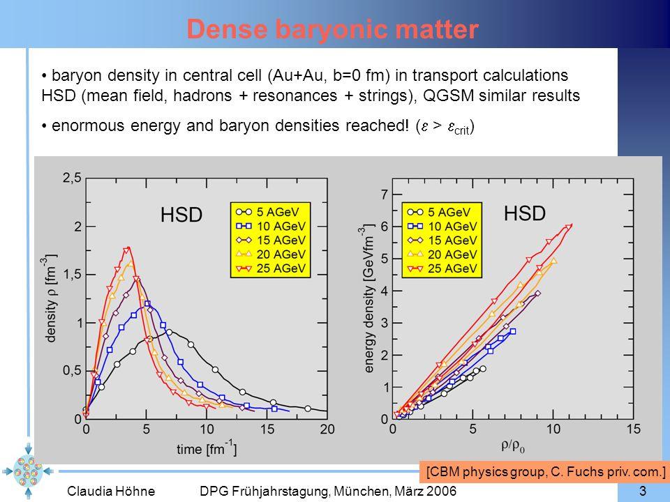 Dense baryonic matter