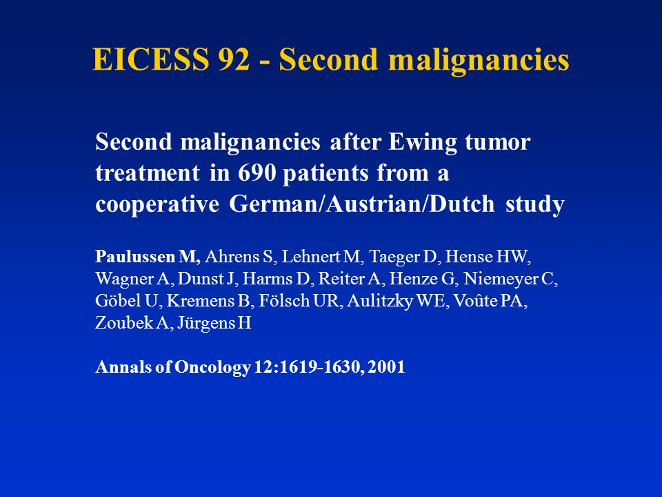 EICESS 92 - Second malignancies