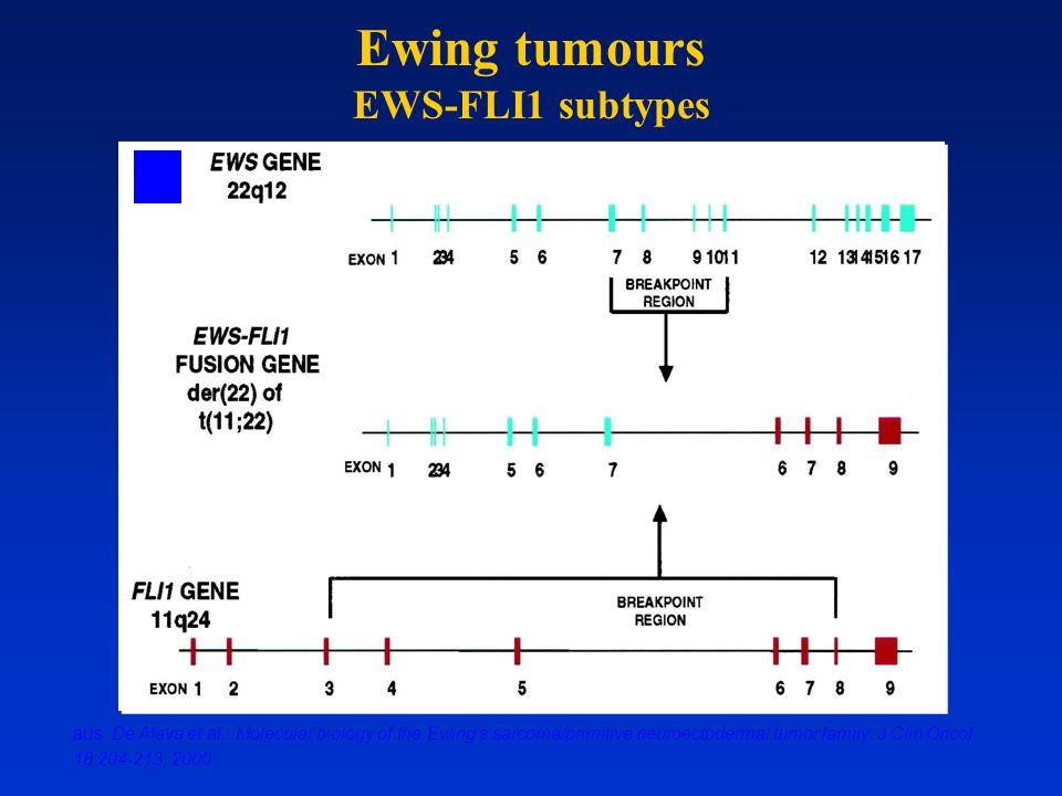 Ewing tumours EWS-FLI1 subtypes