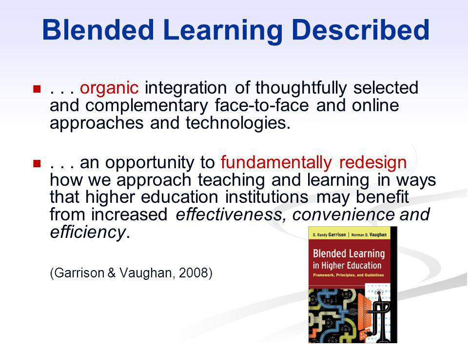 Blended Learning Described