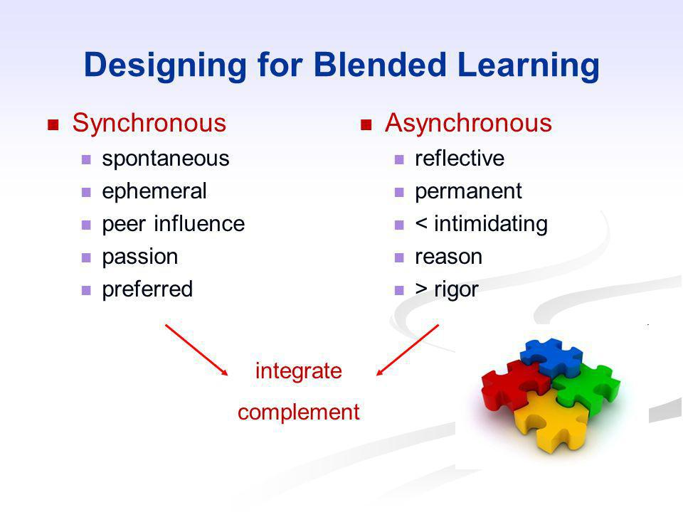 Designing for Blended Learning