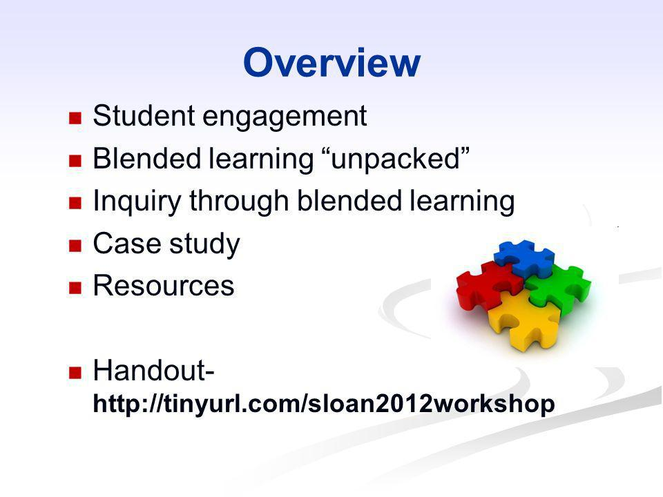 Overview Student engagement Blended learning unpacked