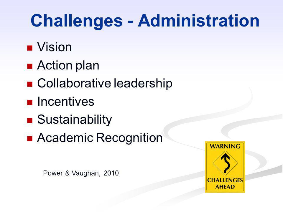Challenges - Administration