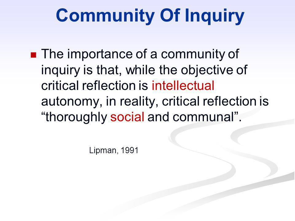 Community Of Inquiry