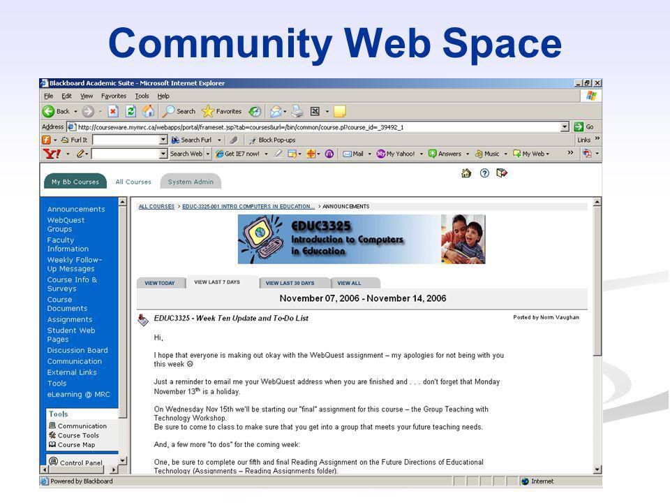 Community Web Space