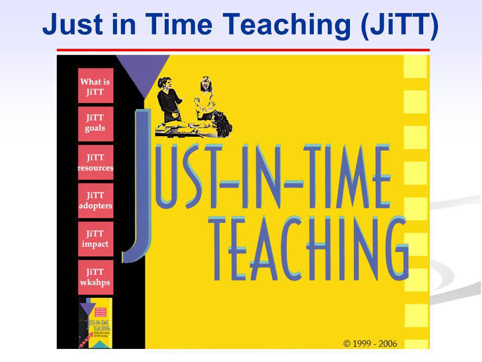 Just in Time Teaching (JiTT)