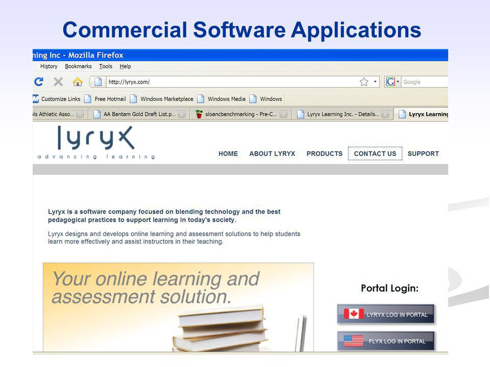 Commercial Software Applications