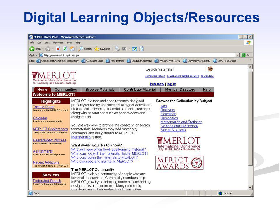 Digital Learning Objects/Resources