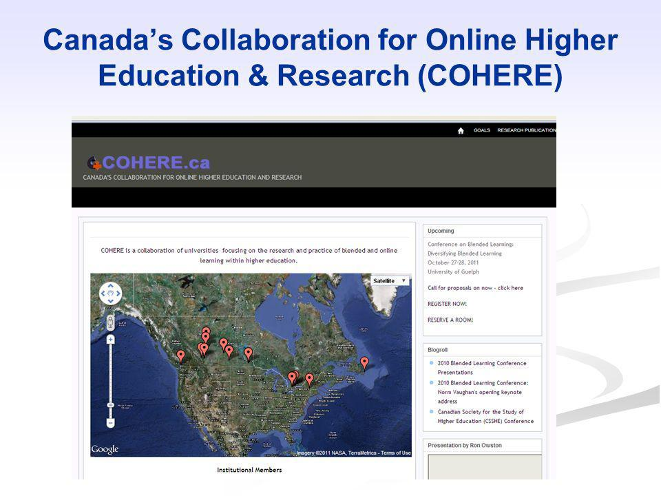 Canada's Collaboration for Online Higher Education & Research (COHERE)