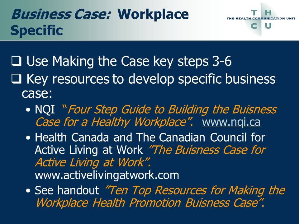 Business Case: Workplace Specific