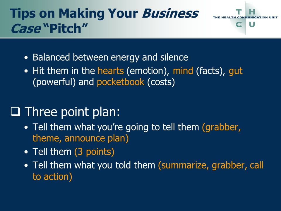 Tips on Making Your Business Case Pitch