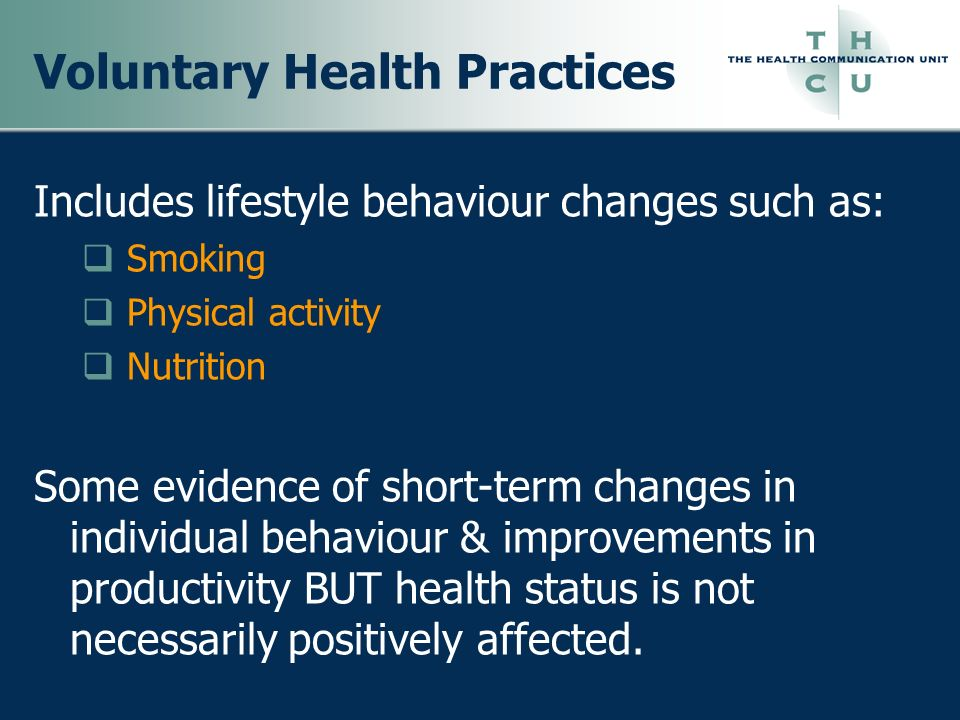 Voluntary Health Practices