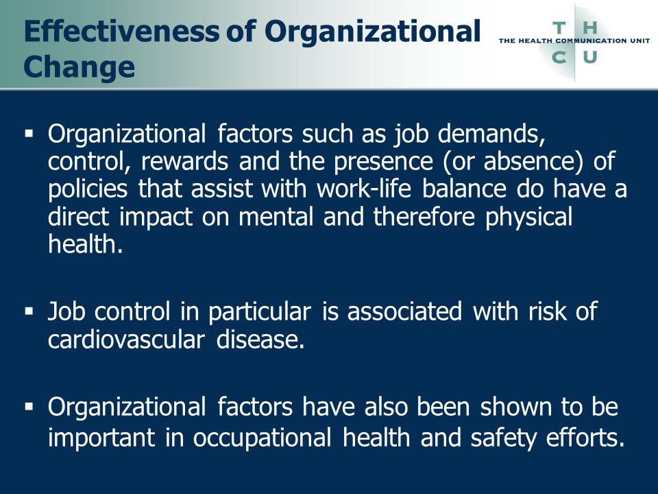Effectiveness of Organizational Change