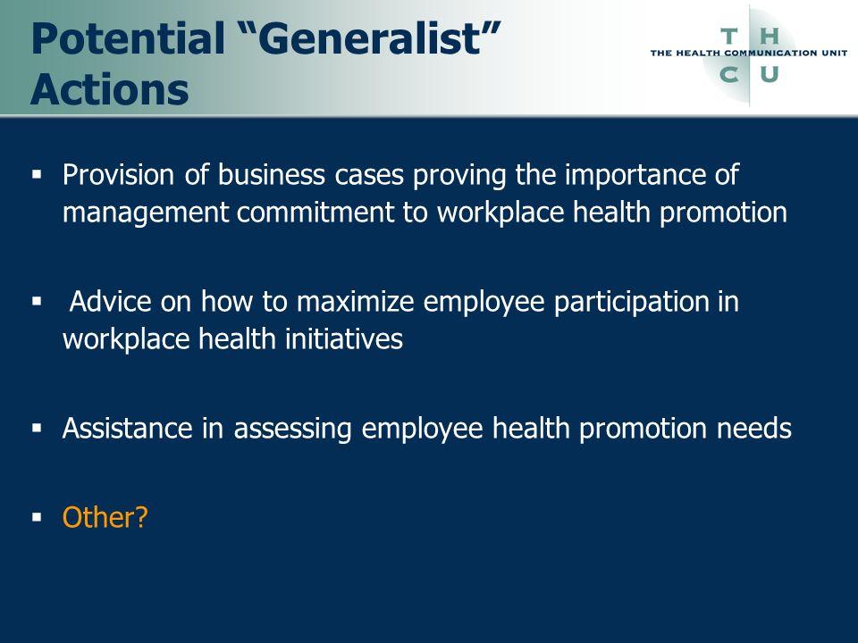 Potential Generalist Actions