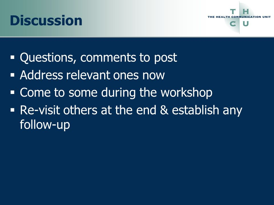 Discussion Questions, comments to post Address relevant ones now