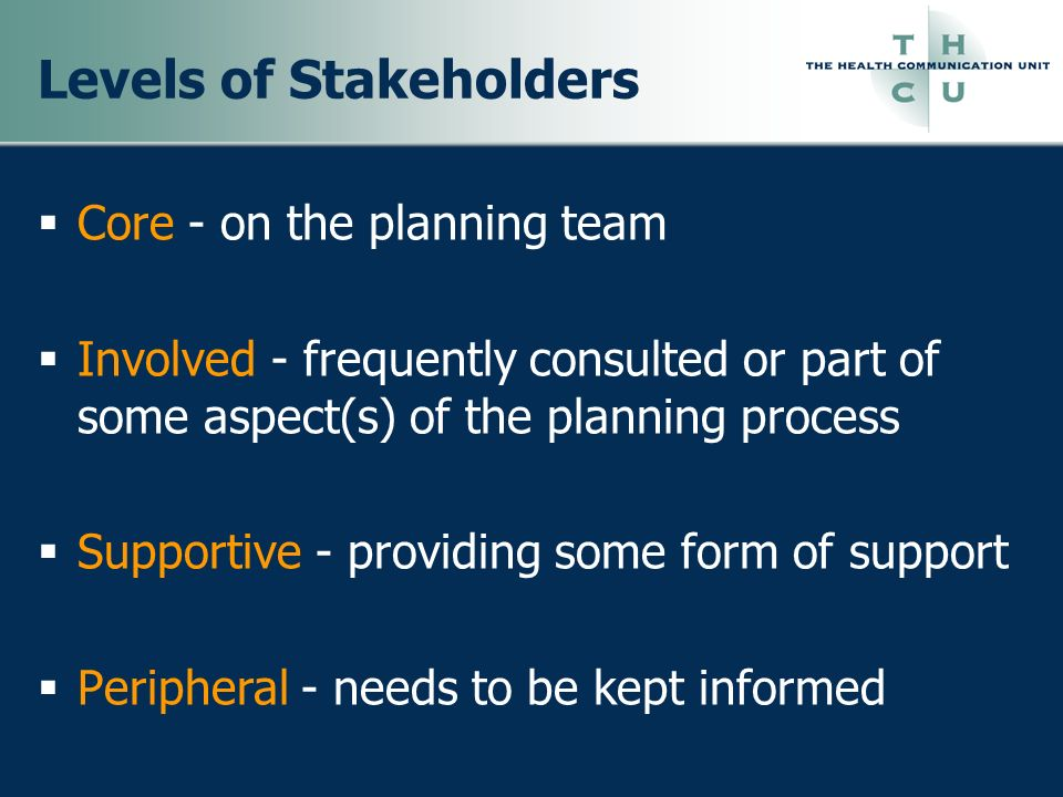 Levels of Stakeholders
