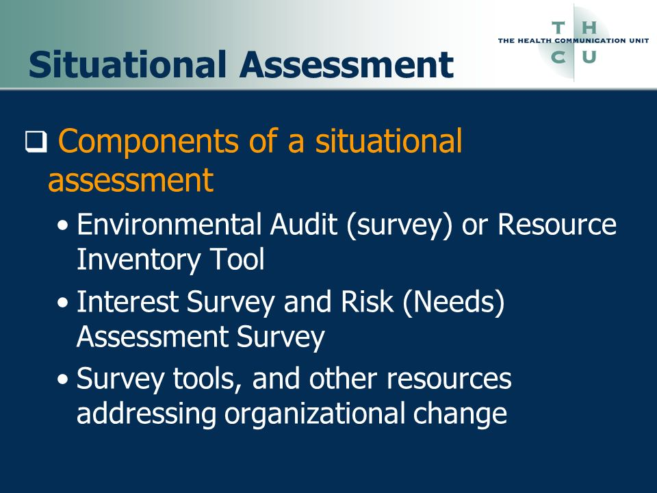 Situational Assessment