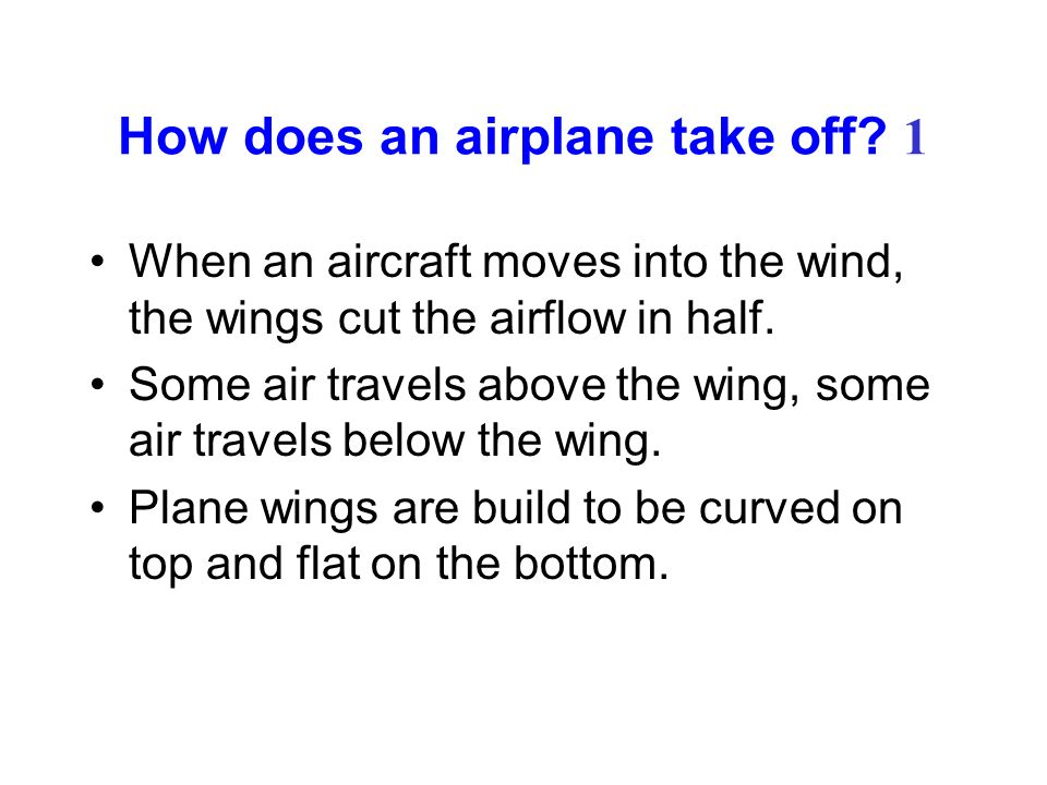 How does an airplane take off 1