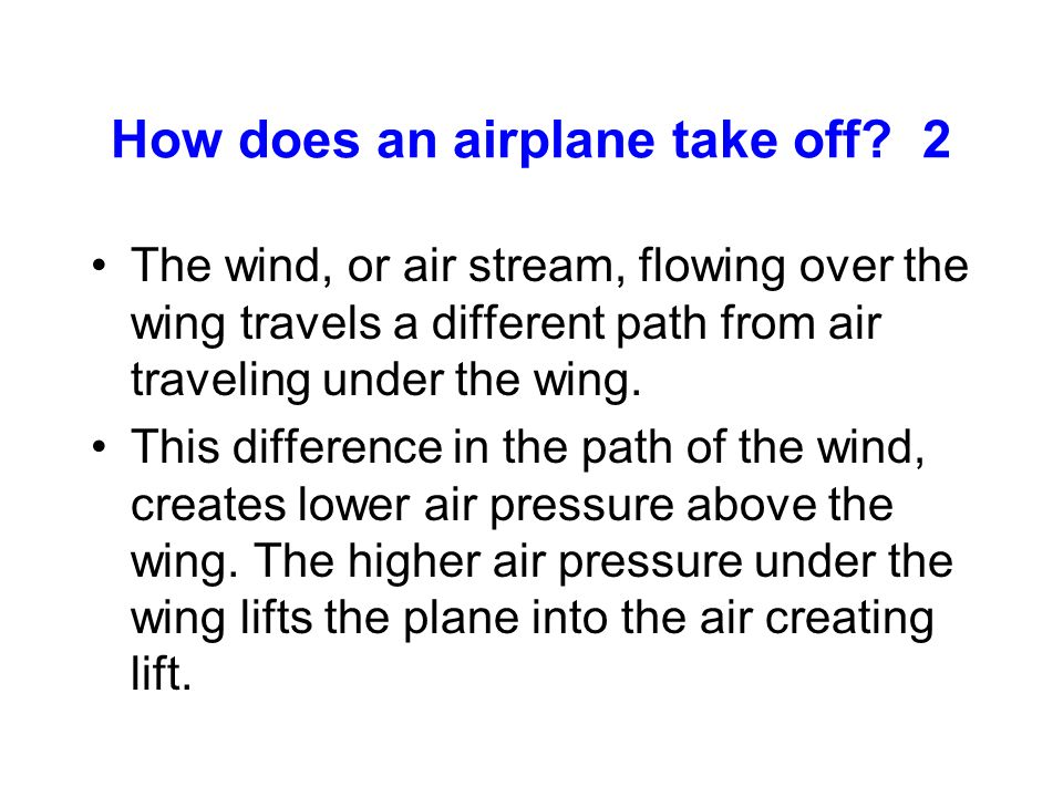 How does an airplane take off 2