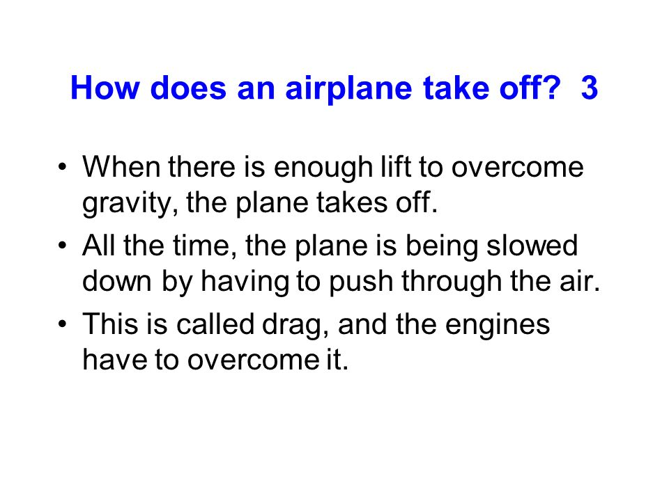 How does an airplane take off 3