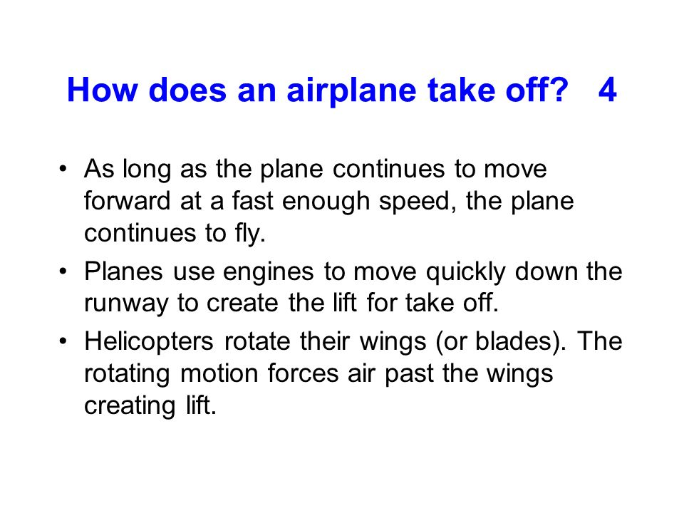 How does an airplane take off 4