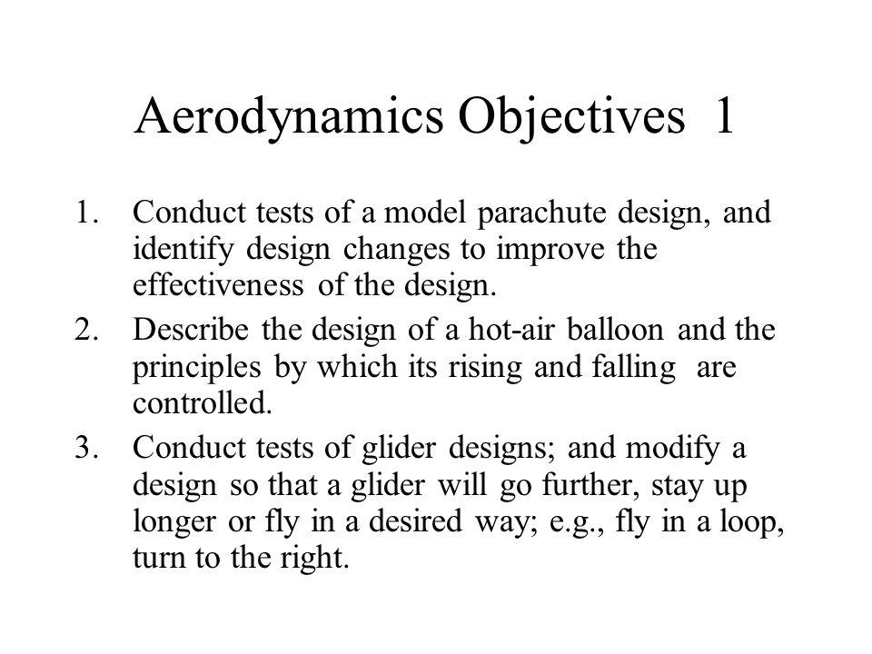 Aerodynamics Objectives 1