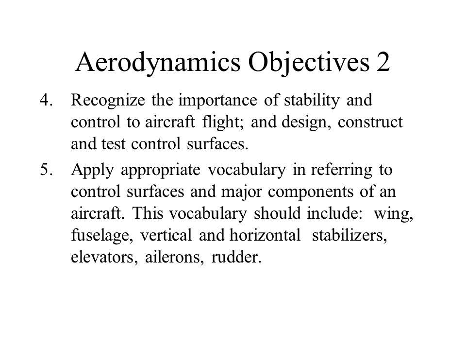 Aerodynamics Objectives 2