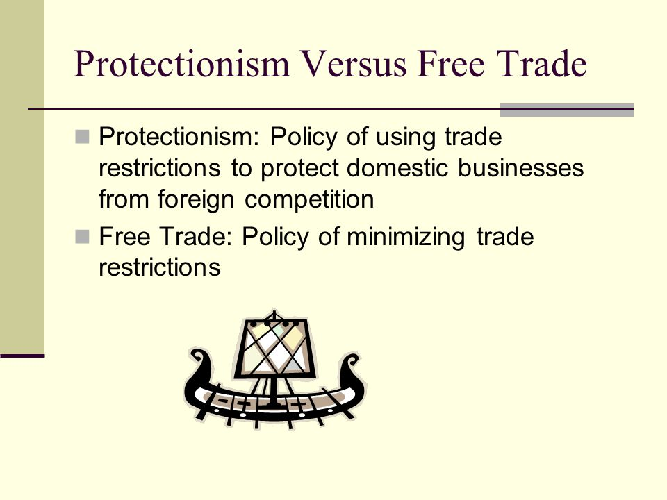 Protectionism Versus Free Trade
