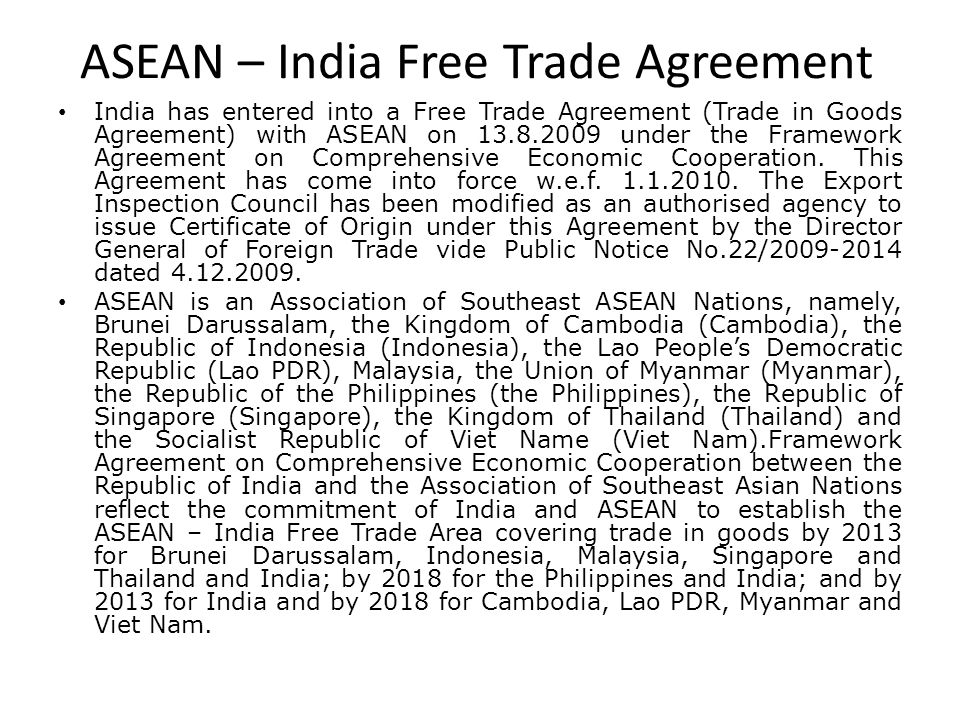 Presented by vasundra ahuja pgdm 2 ppt video online download asean india free trade agreement 24 india malaysia comprehensive economic yadclub Image collections