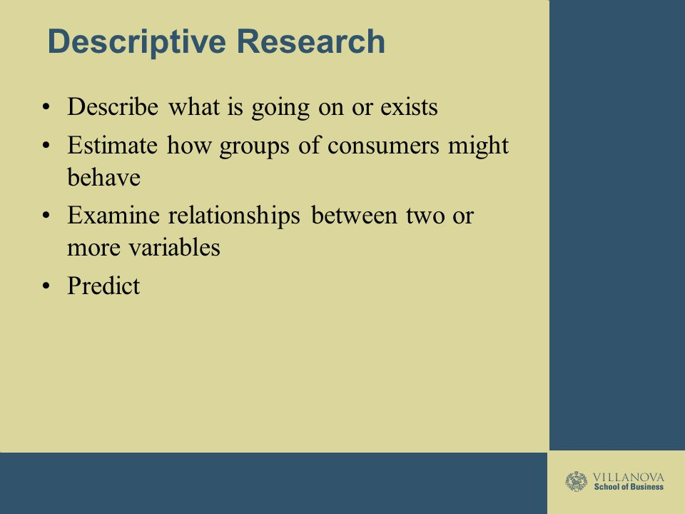 what is descriptive research Introduction to psychology research methods share pin email descriptive research descriptive research seeks to depict what already exists in.