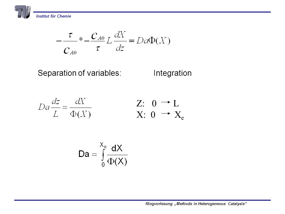 Separation of variables: Integration