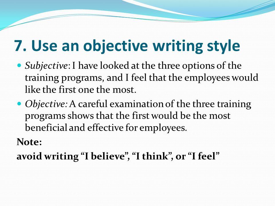 objective of writing an essay