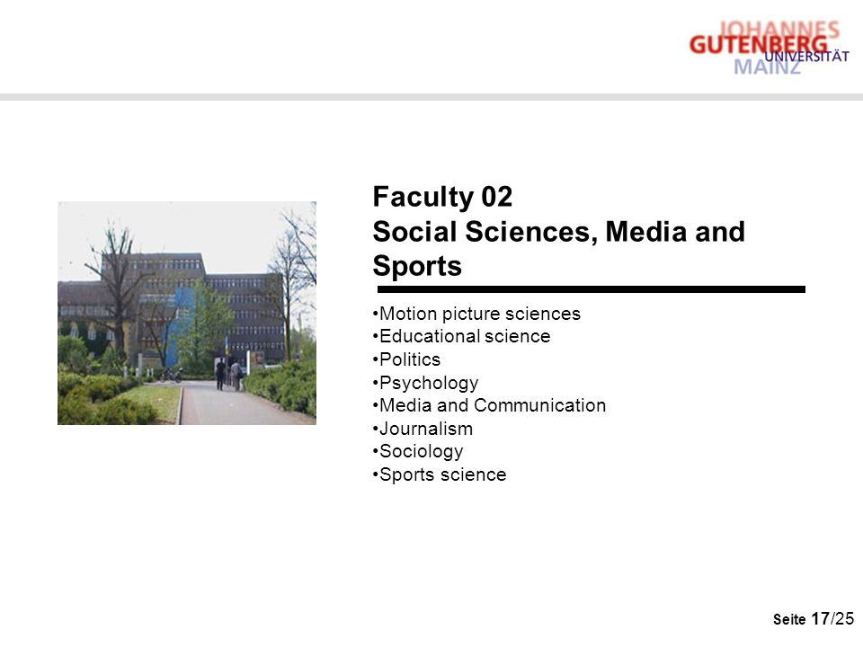 Social Sciences, Media and Sports