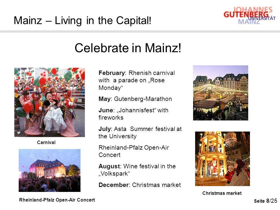 Mainz – Living in the Capital!