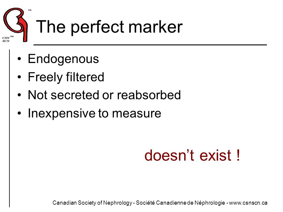 The perfect marker doesn't exist ! Endogenous Freely filtered