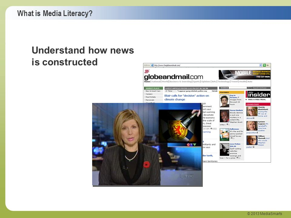 Understand how news is constructed