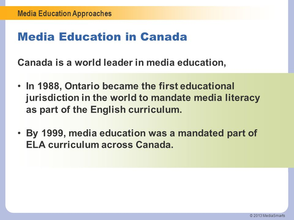 Media Education in Canada