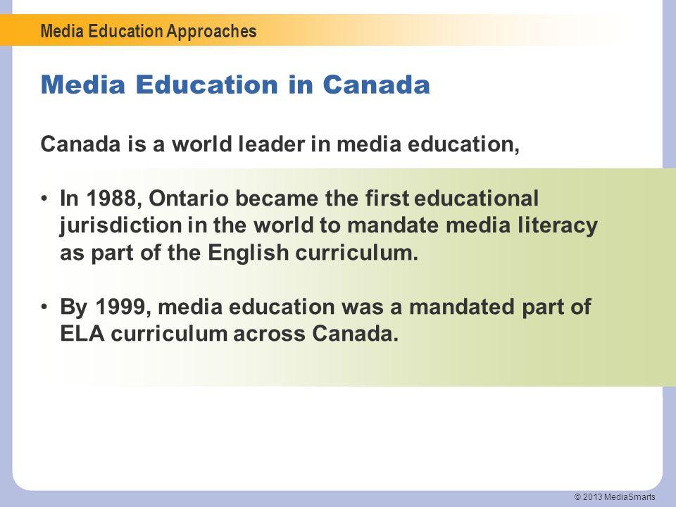 Media Education in Canada