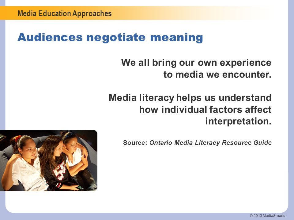 Audiences negotiate meaning
