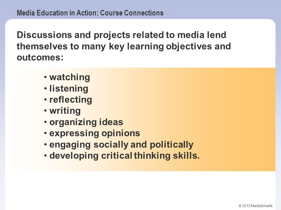 engaging socially and politically developing critical thinking skills.