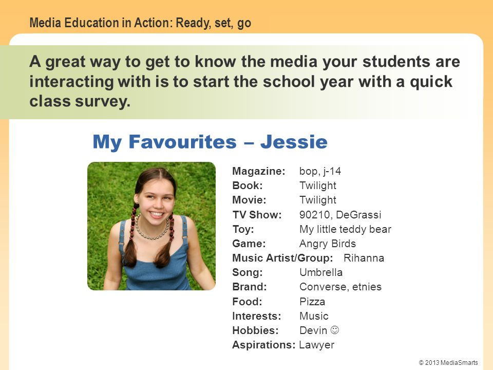 My Favourites – Jessie My Favourites – Mike W.