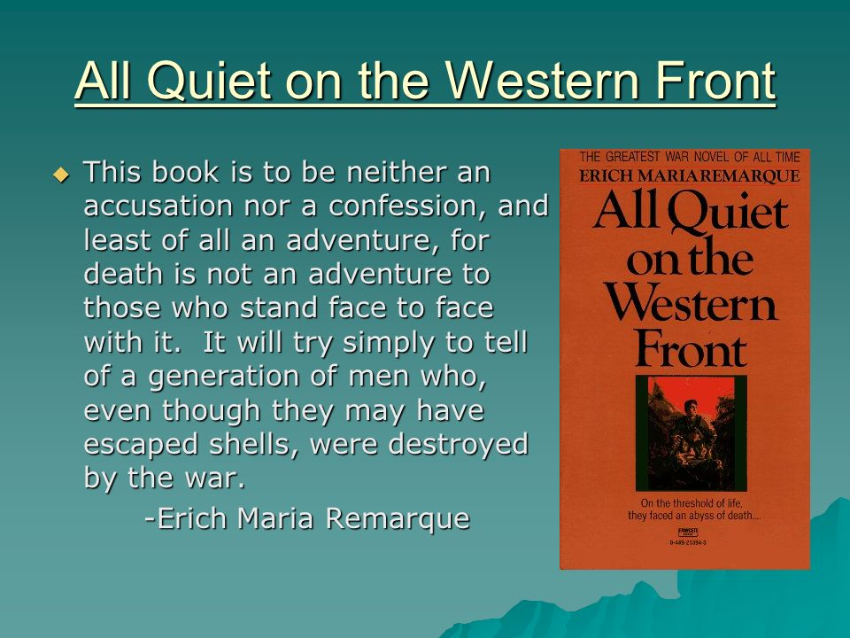all quiet in the western front essay