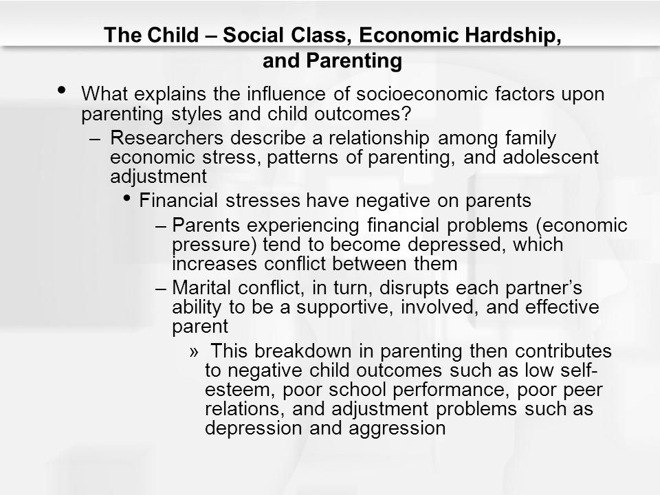 Social class and self esteem among adolescents