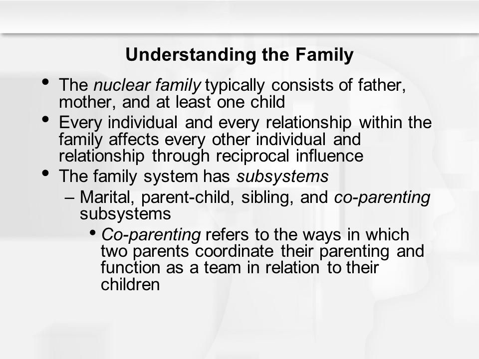 a relationship consists of two whole individuals and family individual health