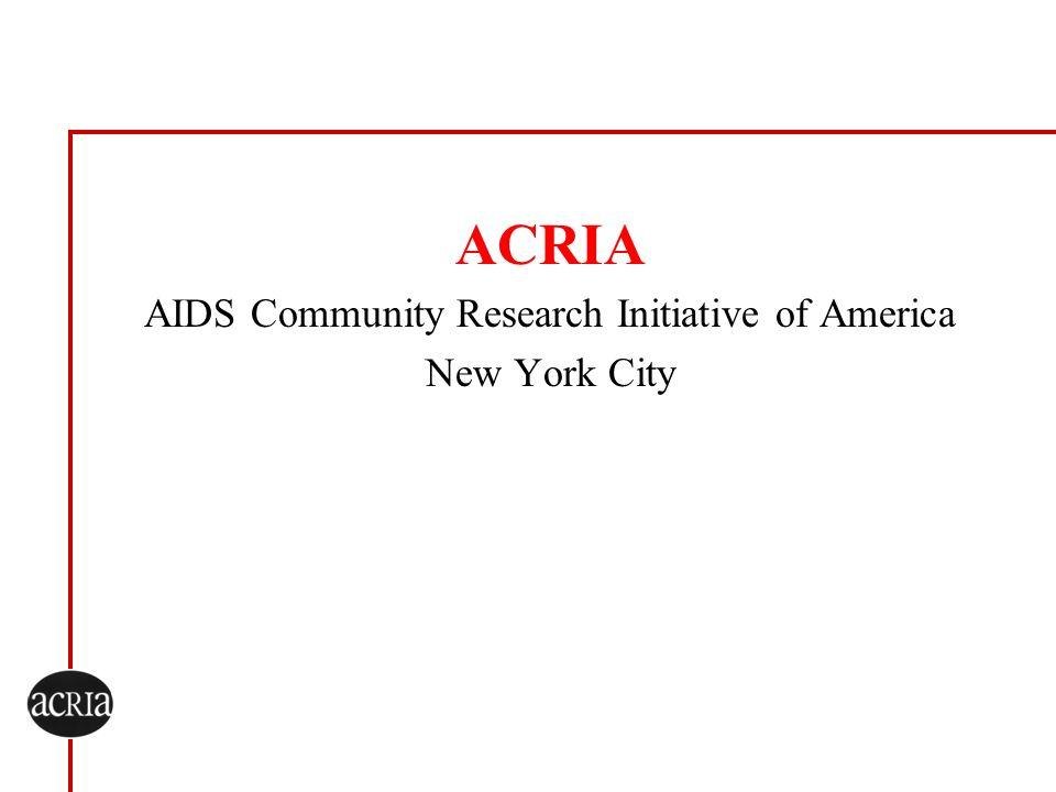 AIDS Community Research Initiative of America