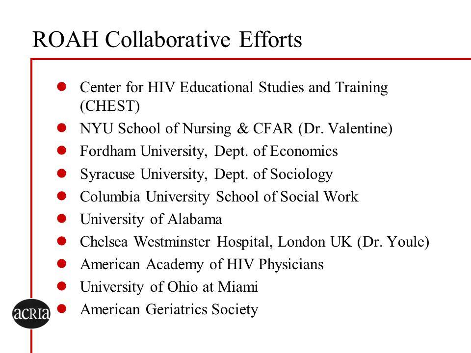 ROAH Collaborative Efforts